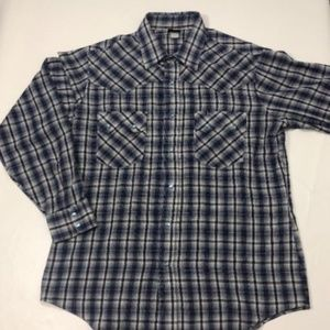 Levis Pearl Snap Button Western Shirt Cowboy Plaid